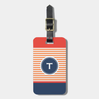 colorful stripe with monogram tag for bags