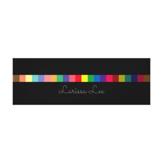 colorful stripe with name , personalized canvas print