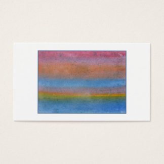 Colorful Striped Abstract. Business Card