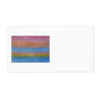 Colorful Striped Abstract. Label