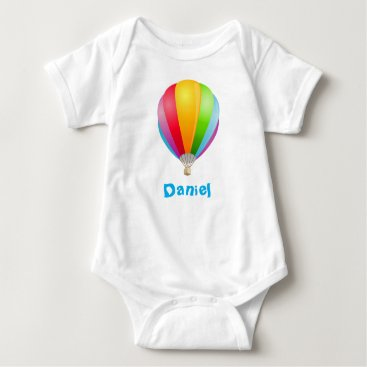 all_summer_products Colorful Striped Aerostat Infant Creeper t-shirt