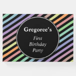 [ Thumbnail: Colorful Striped Birthday Party Guestbook ]