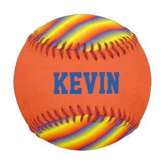 Colorful Striped Custom Baseball