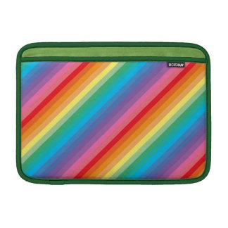 Colorful striped macbook air sleeve