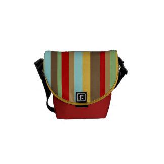 Colorful Striped Mini Zero Messenger Bag