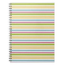 Colorful Striped Notebook (Big Green Stripe)