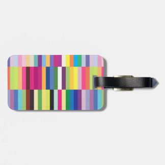 Colorful Striped Pattern Bag Tag