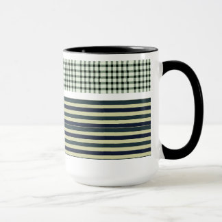 Colorful striped pattern coffee mug