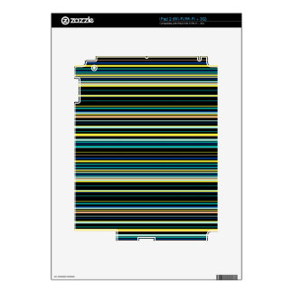 Colorful striped pattern decal for iPad 2