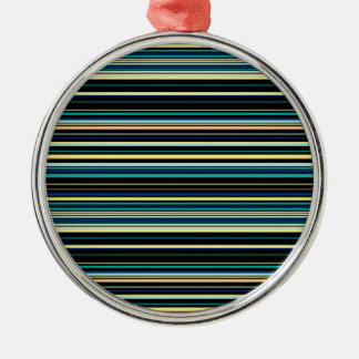 Colorful striped pattern metal ornament