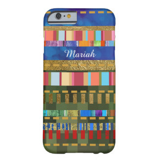 colorful striped-pattern personalized barely there iPhone 6 case