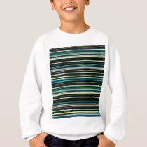 Colorful striped pattern sweatshirt