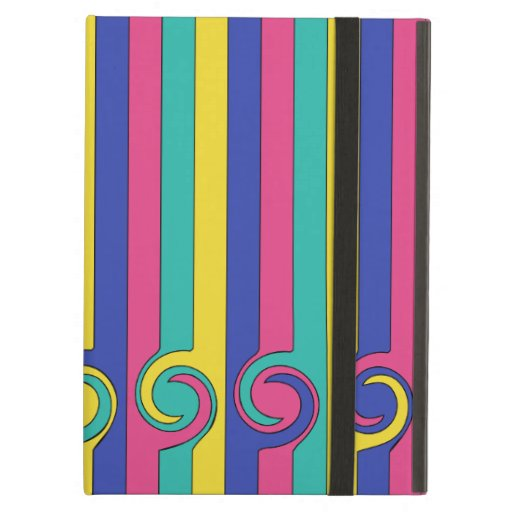 Colorful Striped Pattern With Colorful Circles Case For iPad Air