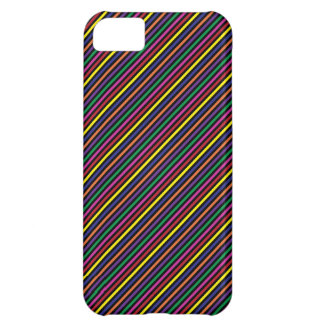 Colorful Striped Rep Pattern Case For iPhone 5C