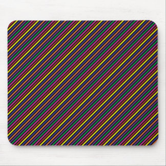 Colorful Striped Rep Pattern Mouse Pad