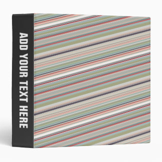Colorful Stripes Abstract 3 Ring Binder