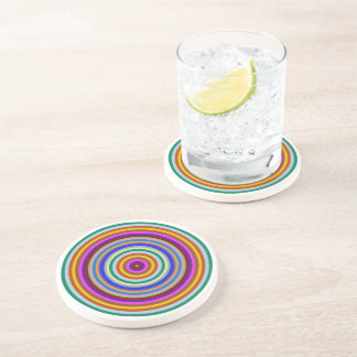 Colorful stripes acrylic  Sandstone Drink Coaster