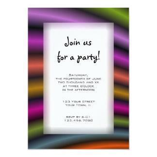 Colorful Stripes All Purpose Party Invitation