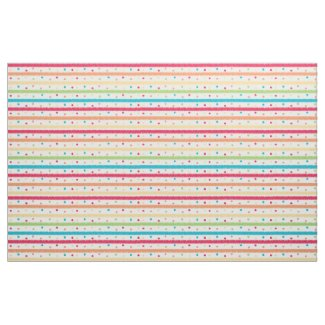 Colorful Stripes and Polka Dots Fabric