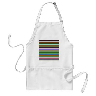 Colorful Stripes Adult Apron