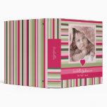 Colorful Stripes Baby Girl Photo Album Vinyl Binder