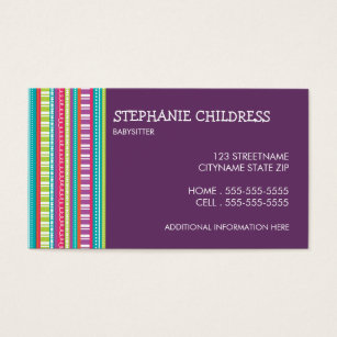 Business cards for babysitting demirediffusion babysitting business cards templates zazzle accmission Images