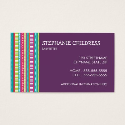 babysitting business cards zazzle com