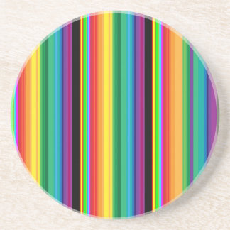 Colorful stripes background coaster