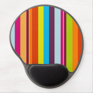 Colorful stripes background gel mouse pad