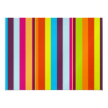 Colorful stripes background personalized announcement