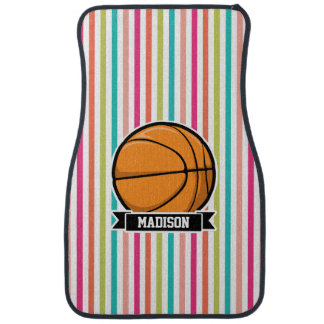 Colorful Stripes; Basketball Car Mat