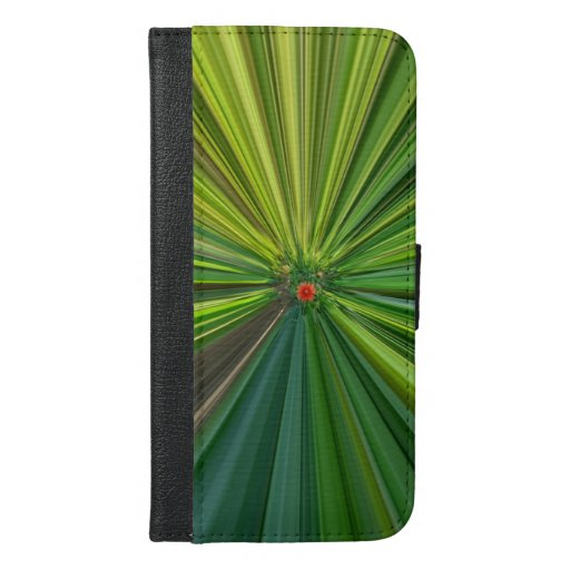 Colorful stripes beam pattern. iPhone 6/6s plus wallet case