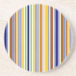 Colorful stripes beverage coaster