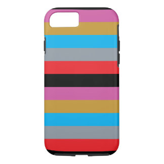 Colorful Stripes Black Pink Blue Gold Gray Red iPhone 7 Case