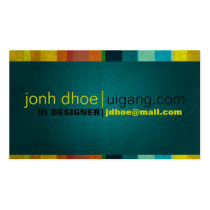 modern, vibrant, vivid, rainbow, colorful, young, cool, upbeat, dynamic, sleek, stripes, grungy, urban, designer, creative, Business Card with custom graphic design
