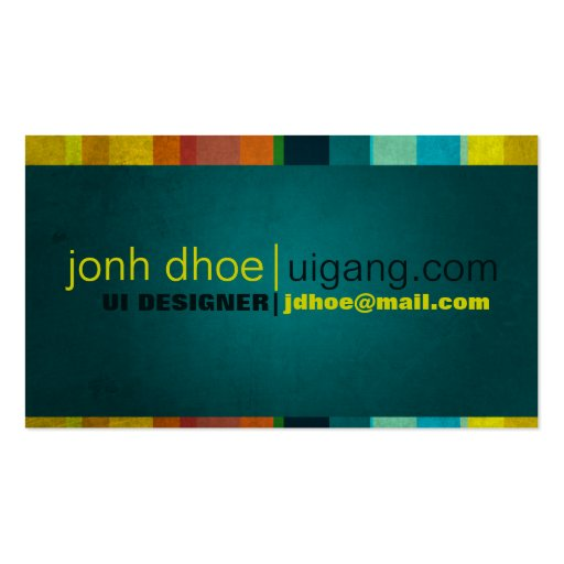 Colorful Stripes Business Card