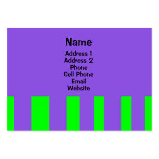 Colorful stripes business card template