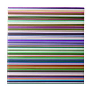 Colorful Stripes Ceramic Tile