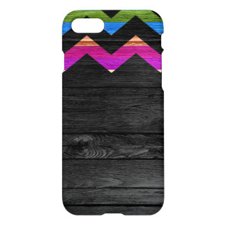 Colorful Stripes Chevron Pattern Modern Wood #11 iPhone 8/7 Case