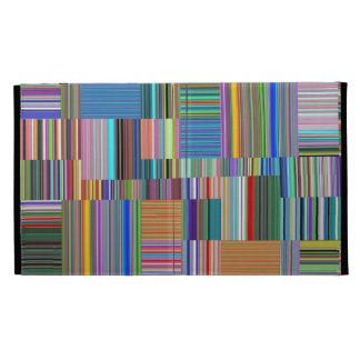 Colorful Stripes Collage iPad Folio Cases