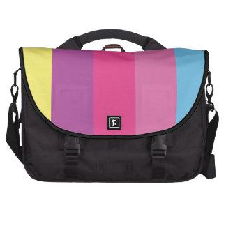 Colorful Stripes Color Blocking Bag For Laptop
