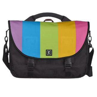 Colorful Stripes Color Blocking Laptop Messenger Bag