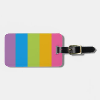 Colorful Stripes Color Blocking Tags For Luggage