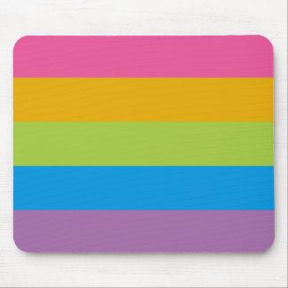 Colorful Stripes Color Blocking Mousepad