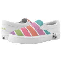 Colorful Stripes custom monogram shoes