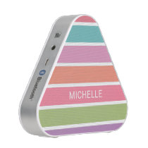 Colorful Stripes custom name bluetooth speaker