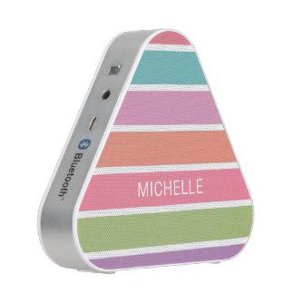 Colorful Stripes custom name bluetooth speaker