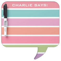 Colorful Stripes Custom Text Message Boards at Zazzle