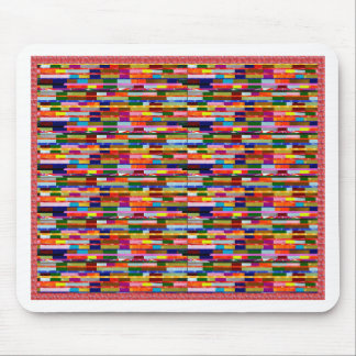 Colorful Stripes DIY template add text photo image Mouse Pad