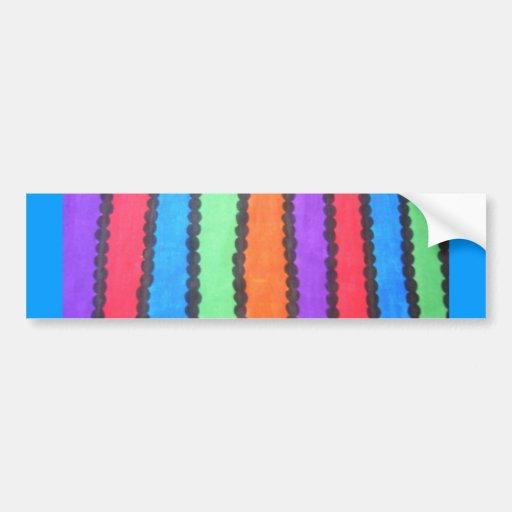 Colorful Stripes/Dots Bumper Stickers